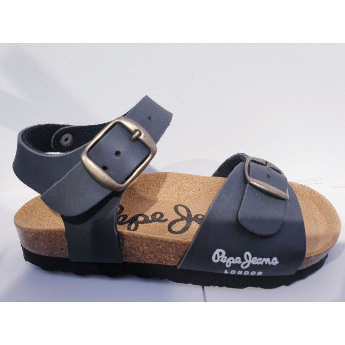 PEPE JEANS bio sandal two buckles grey