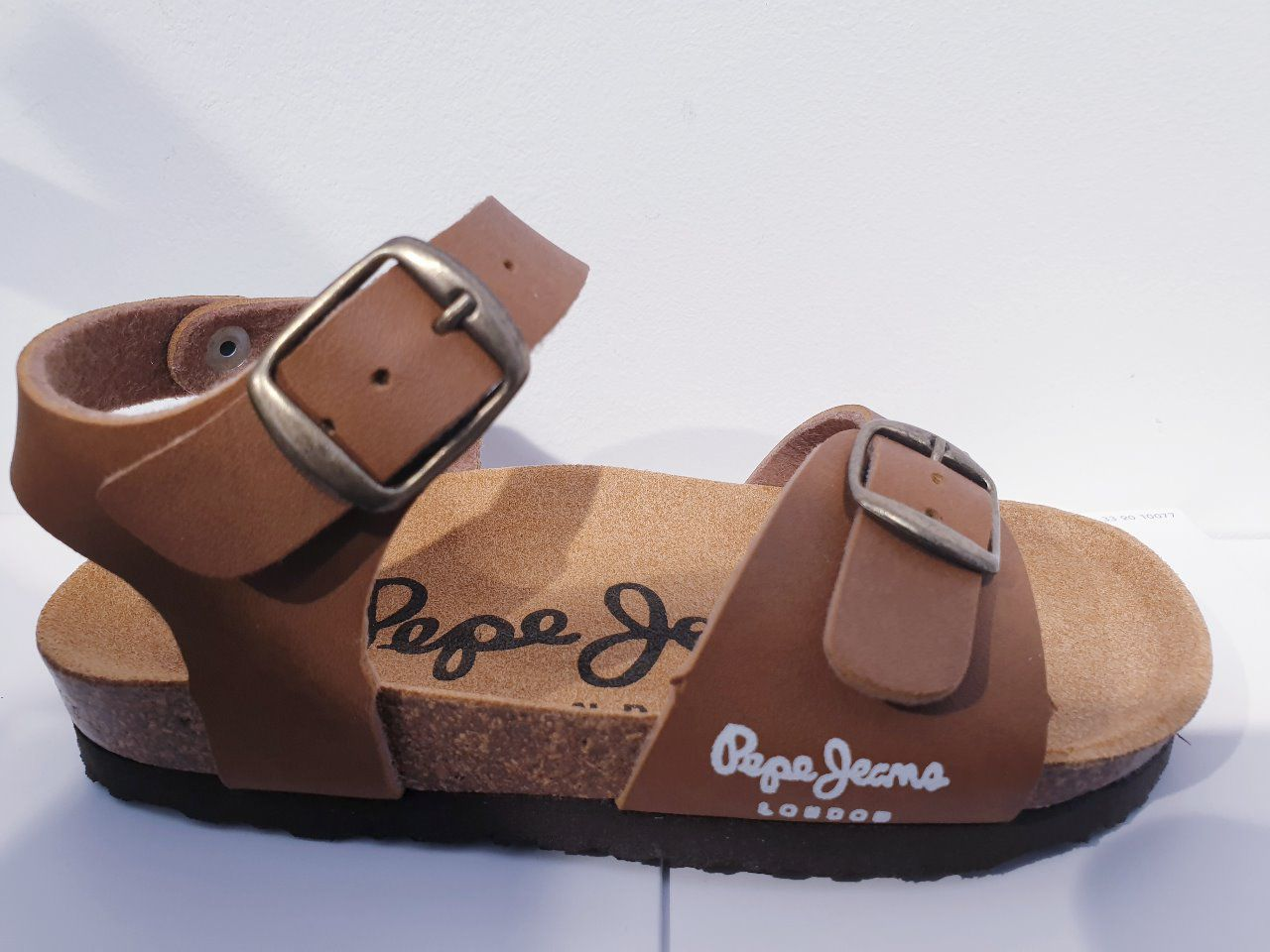 PEPE JEANS bio sandal two buckles tobacco