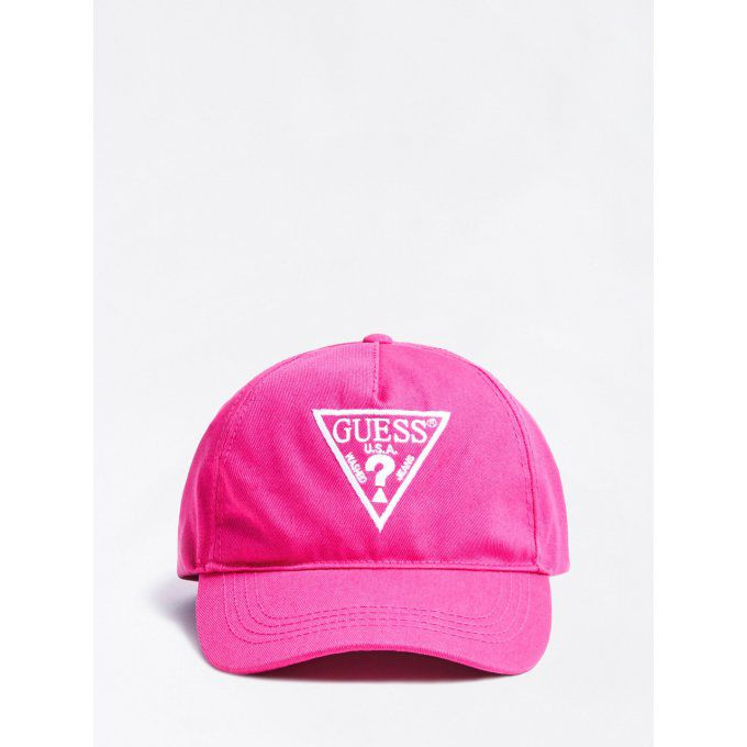 GUESS KIDS casquette logo triangle sur le devant rose