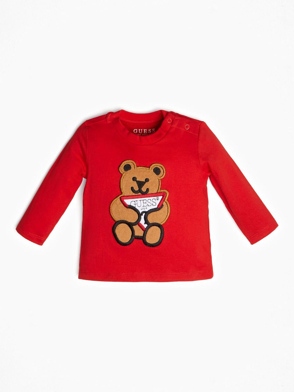 GUESS KIDS t-shirt imprimé ourson logo rouge