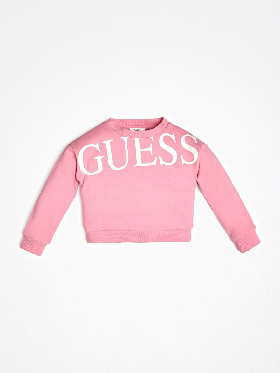 GUESS KIDS sweat logo imprimé sur le devant rose
