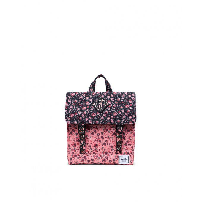 HERSCHEL Survey Backpack | Kids Color: Multi Ditsy Floral Black/Flamingo Pink